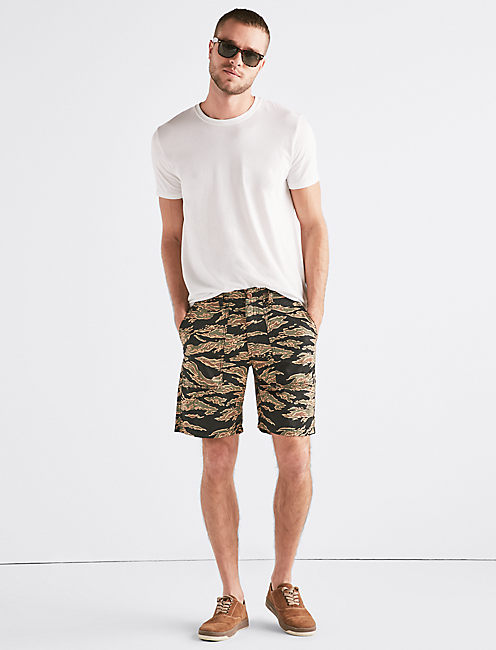 Lucky Seersucker Camo Short
