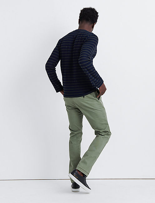 410 Athletic Slim COOLMAX STRETCH CHINO, DEEP LICHEN GREEN