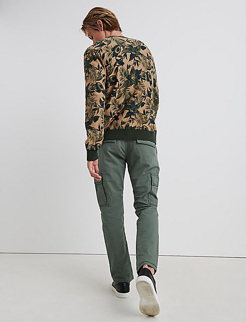 RIPSTOP CARGO PANT, BLEACHED GREEN
