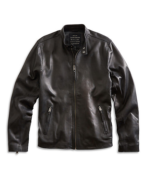 CLEAN BONNEVILLE LEATHER JACKET, BLACK