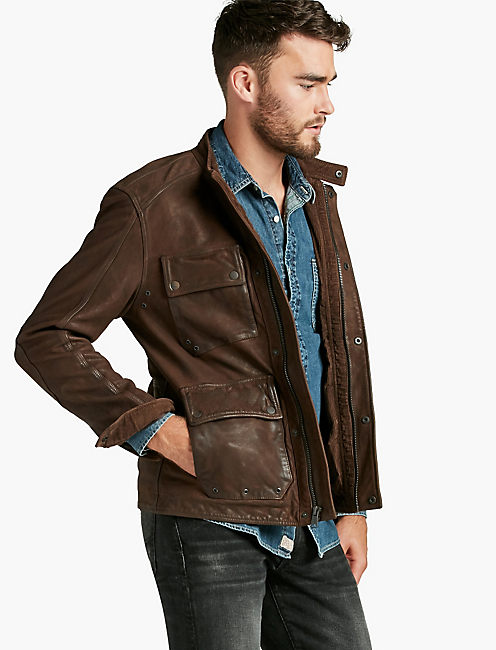 MANX LEATHER JACKET,