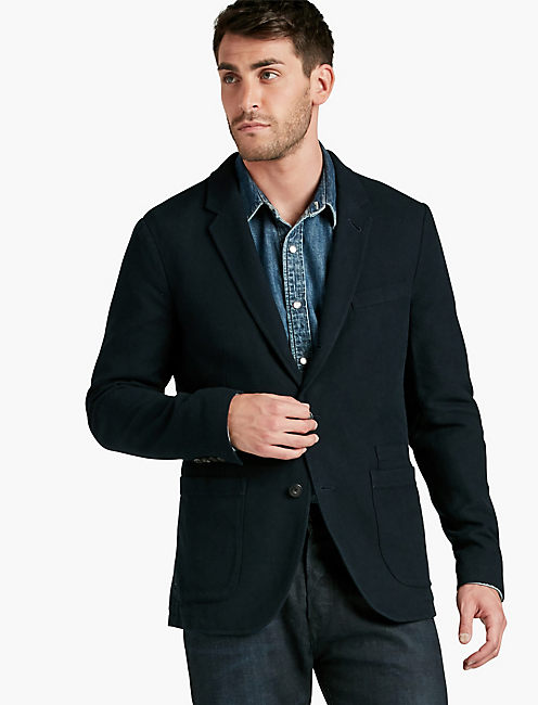 HOPSACK UNLINED SPORTCOAT,