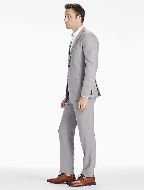 ACE RIDER SUIT JACKET, LIGHT HEATHER GREY