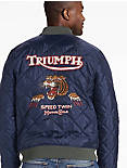 TRIUMPH QUILTED BOMBER JACKET,