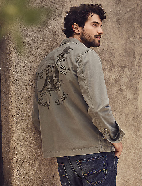 EMBROIDERED SHIRT JACKET,