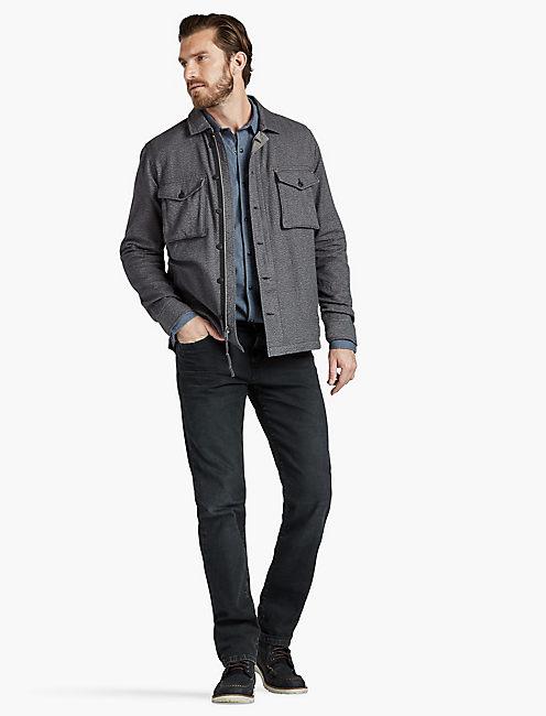 Jaspe Twill Shirt Jacket, #001 BLACK