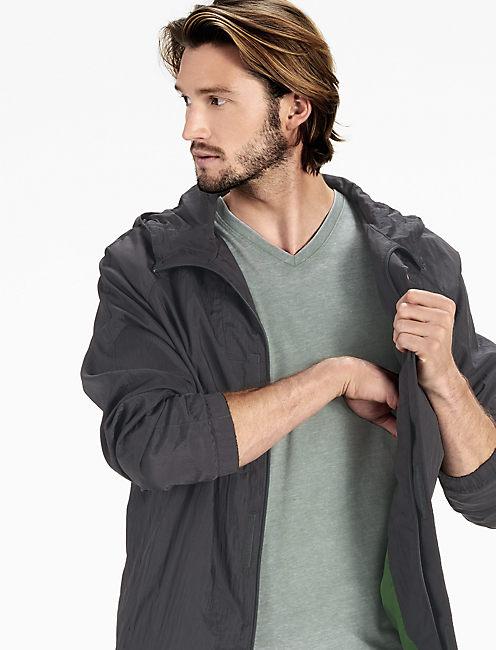 Lightweight Packable Jacket, DARK GREY