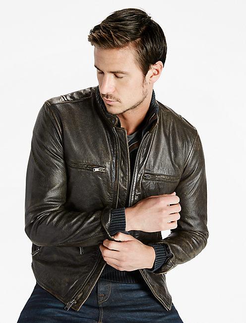 Classic Bonneville Leather Jacket, BLACK
