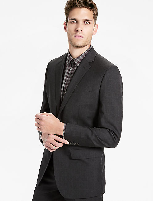 JACK GLENPLAID SUIT JKT, CHARCOAL CHECK