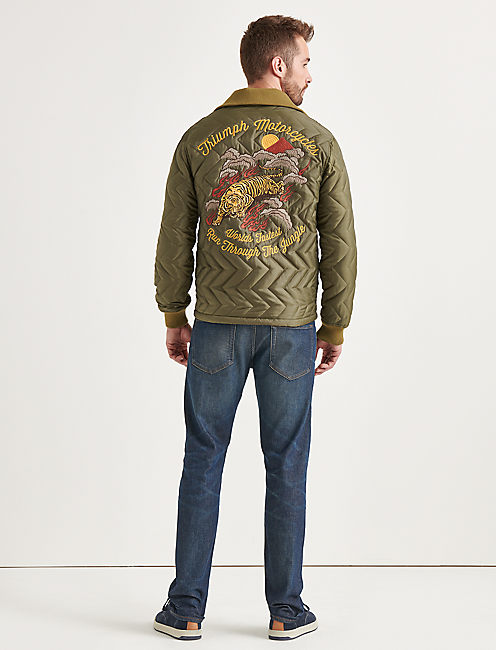 EMBROIDERED TRIUMPH TIGER JACKET,