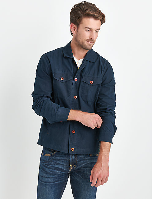 WAXED SHIRT JACKET,