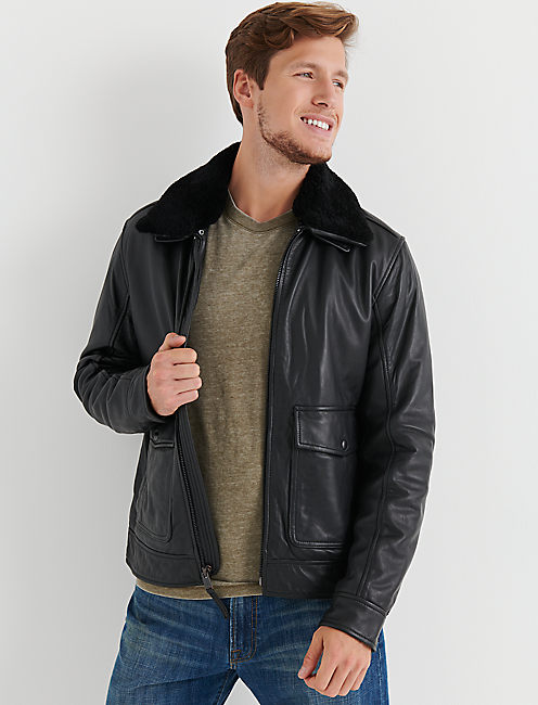 SHEARLING LEATHER JACKET,