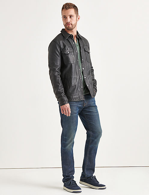 FEATHERWEIGHT LEATHER JACKET,