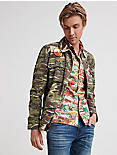 CAMO PATCHWORK SHIRT JACKET,