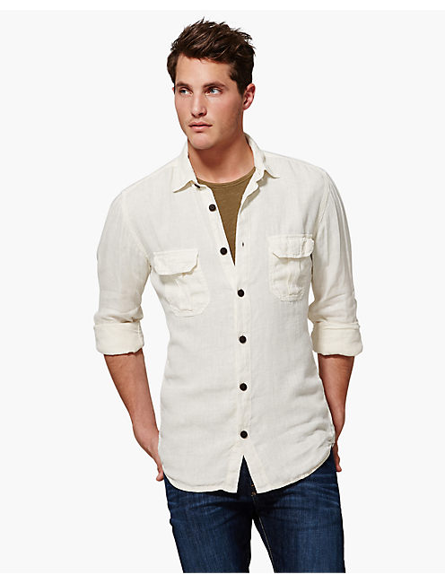 VENTURA LINEN SHIRT, NEW BONE
