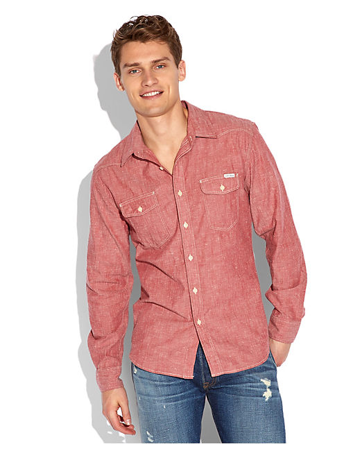COYOTE HILLS CHAMBRAY, RED CHAMBRAY