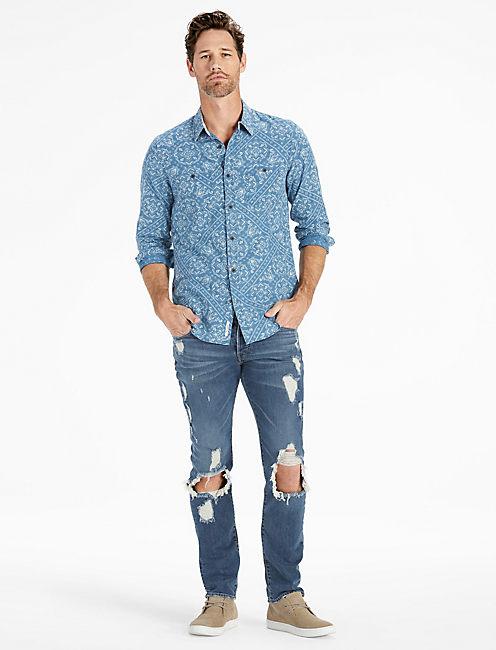 Lucky Bandana Print Mason Workwear Shirt