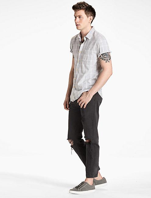 Ballona Short Sleeve Shirt, GREY MULTI