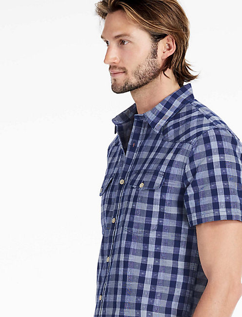 Indigo Dobby Santa Fe Western Shirt,