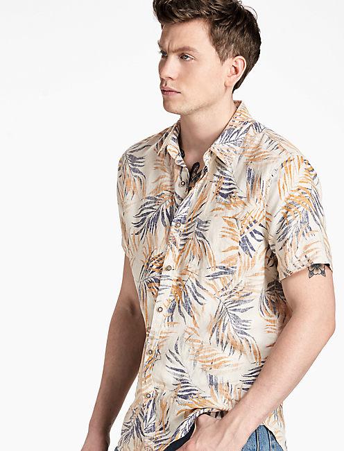 Linen Floral Shirt,