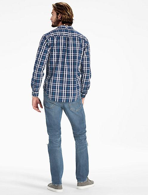 Plaid One Pocket Shirt, BLUE/WHITE