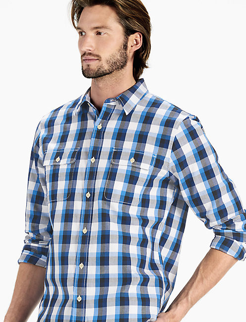 Clean Two Pocket Workwear Shirt, BLUE/NATL