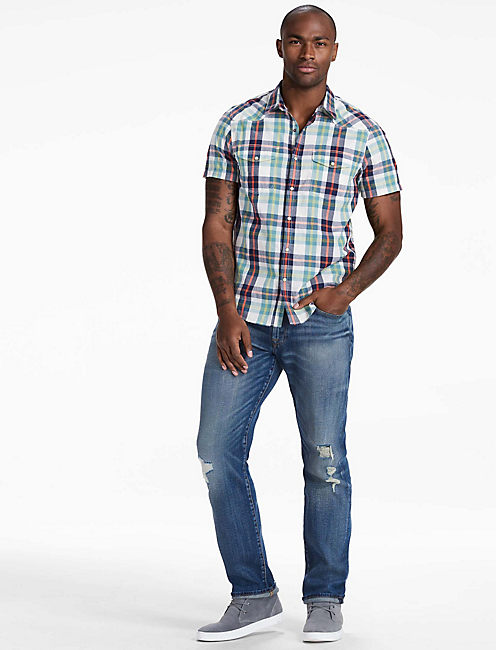 Lucky Short Sleeve Santa Fe Western Shirt