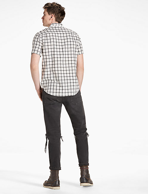 Mason Workwear Shirt, BLACK/WHITE