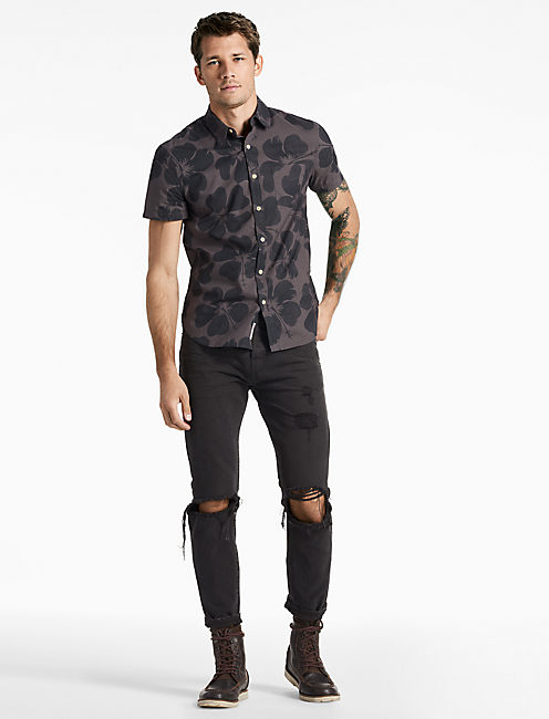 Lucky Hibiscus Floral Shirt