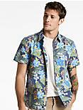 Tropics Aloha Shirt, BLUE FLORAL