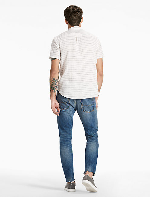 North Shore Linen Shirt, GREY/WHITE