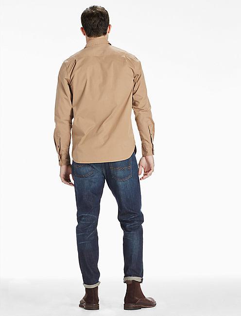 Saturday Stretch Military Oxford Shirt, ELMWOOD