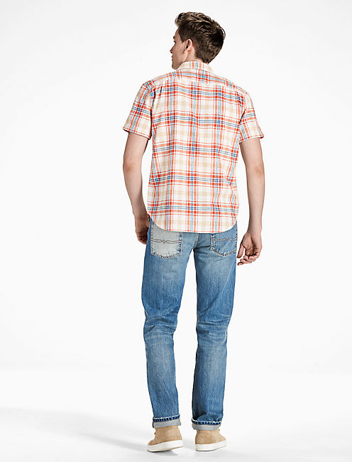 Mason Work Shirt, RED PLAID