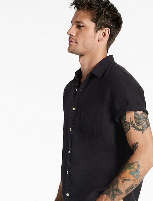 LAGUNA LINEN SHIRT, BLACK