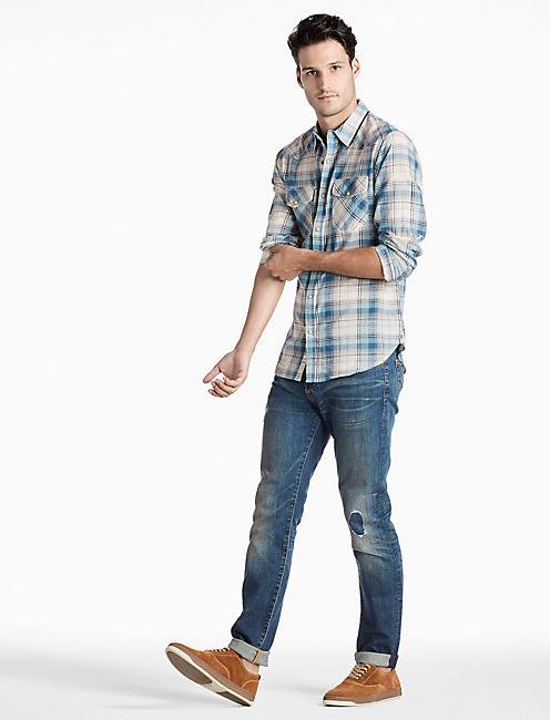Palisades Western Shirt, BLUE/GREEN/NATURAL