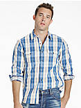 BOULDER CREEK INDIGO TWILL SHIRT JACKET,