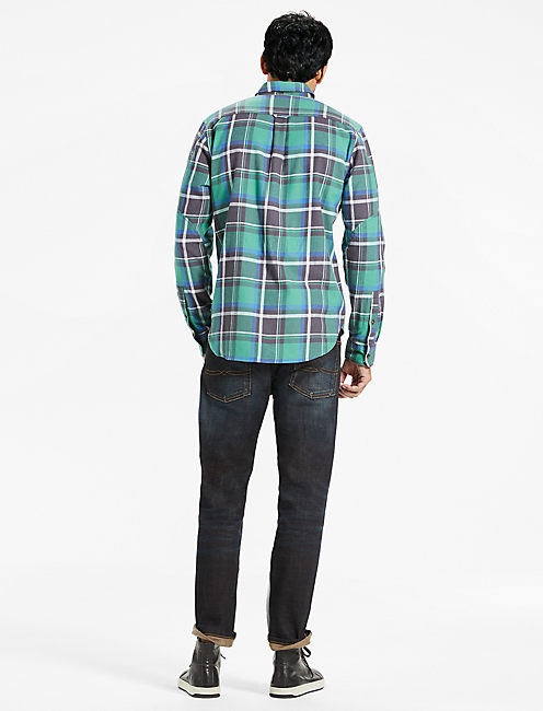 Saturday Stretch Workwear Flannel Shirt,