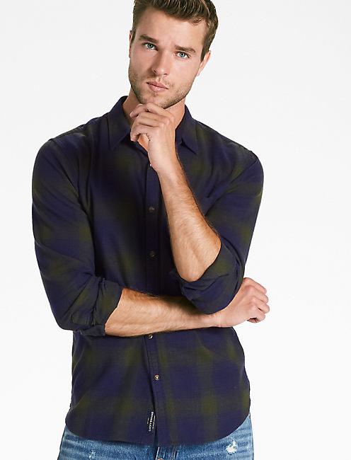 Saturday Stretch One Pocket  Flannel Shirt,