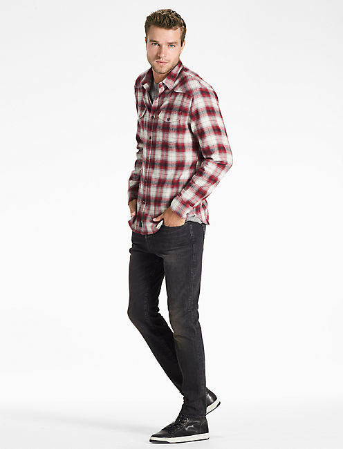 Lucky Saturday Stretch Western Flannel Shirt