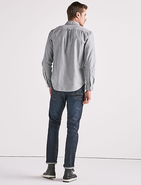 Stretch Oxford One Pocket Shirt, BLUE