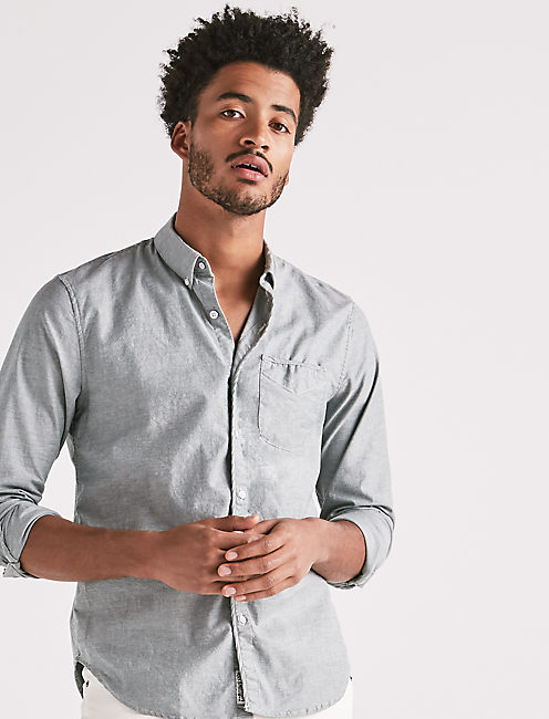 Stretch Oxford One Pocket Shirt, GREENWATER