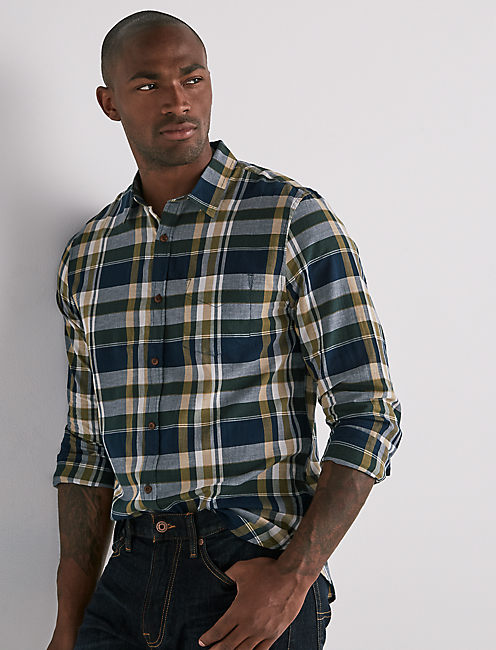 MADRAS ONE POCKET SHIRT,