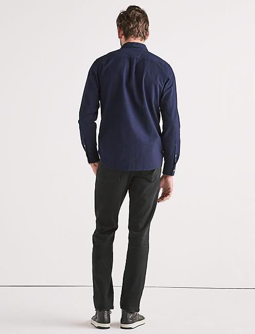 Indigo Seersucker One Pocket Shirt,