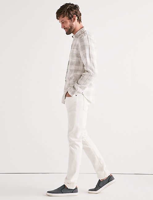Lucky Linen Blend Plaid One Pocket Shirt