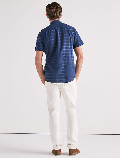 SEASIDE STRIPE WORKWEAR SHIRT,