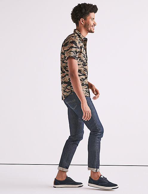 Lucky Seersucker Camo Workwear Shirt