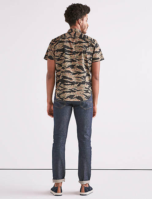 Seersucker Camo Workwear Shirt,