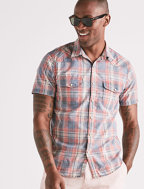 Dusty Plaid Western Shirt,