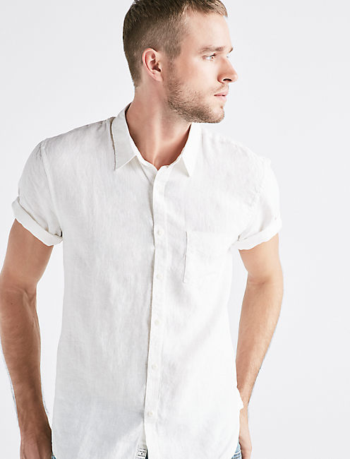 French Linen One Pocket Shirt,