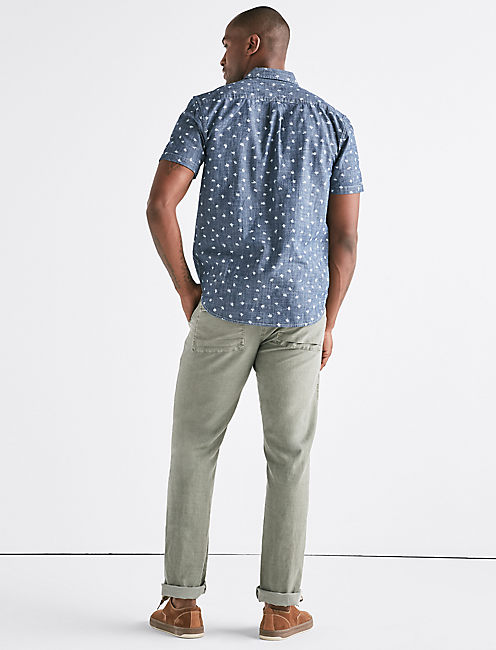 Ditsy Print One Pocket Shirt,